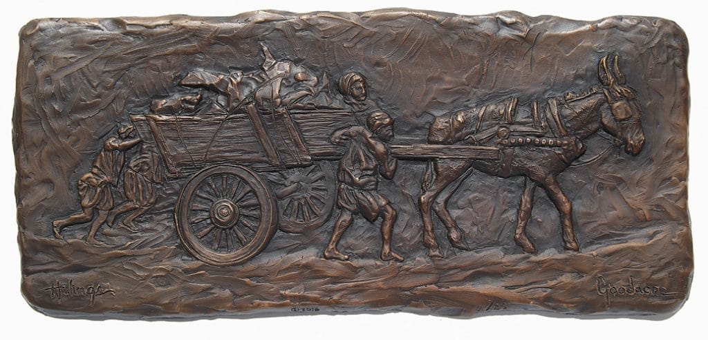 Original Collectible Clark Hulings - Bronze Bas Relief Sculpture