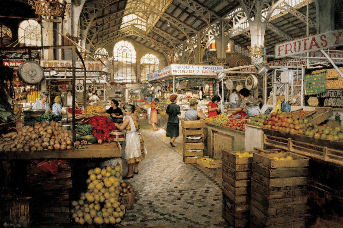 Interior Market Valencia, by Clark Hulings