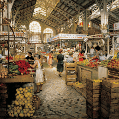 Interior Market Valencia, by Clark Hulings