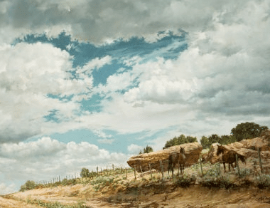 Landscape no.2 (Horses before the storm) , 1973
