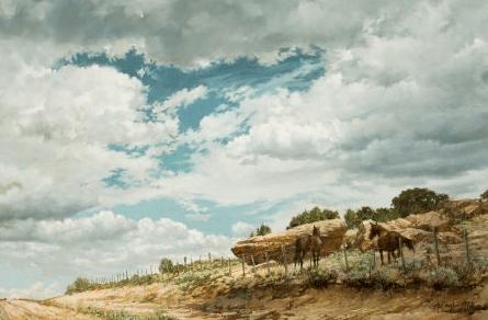 Landscape no.2 (Horses before the storm) , 1973