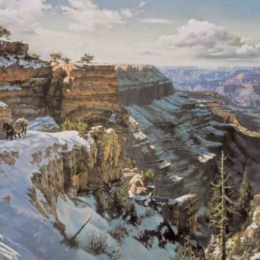 Kaibab-Trail-Winter by Clark Hulings