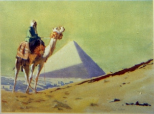 clark hulings-original art-egypt