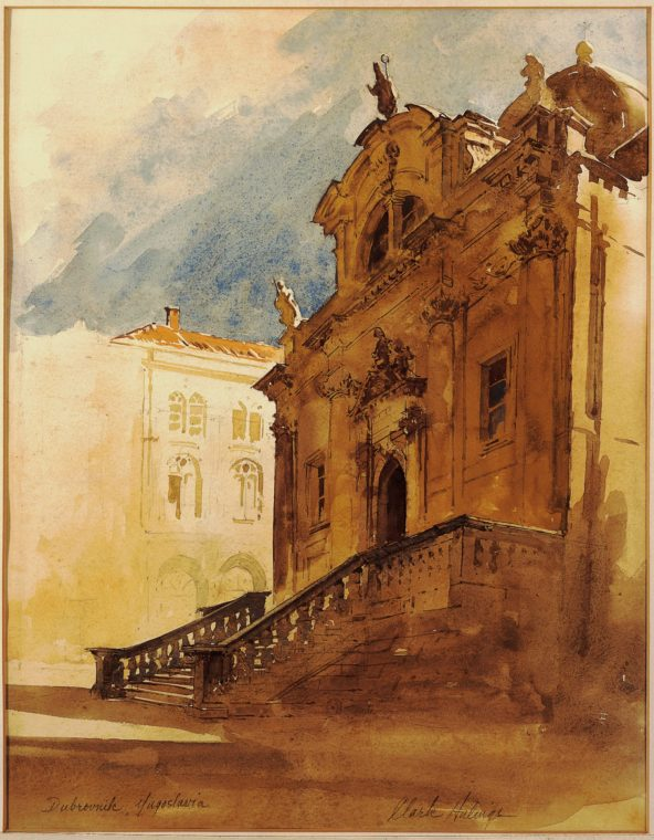 Dubrovnik Cathedral, by Clark Hulings