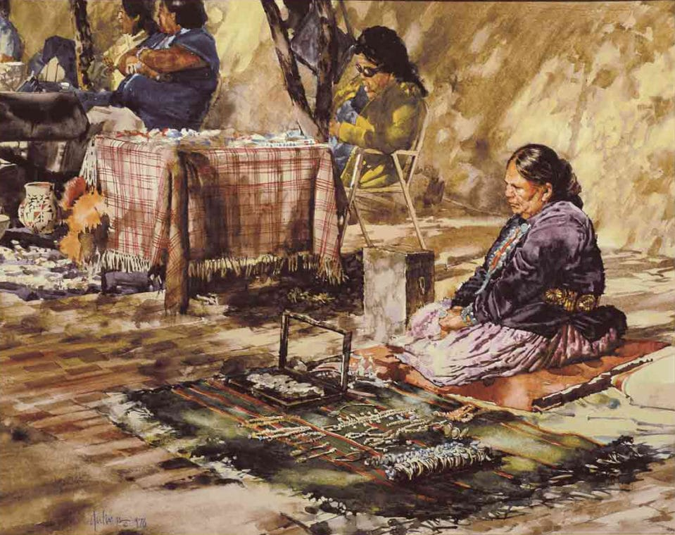 Indian Market by Clark Hulings