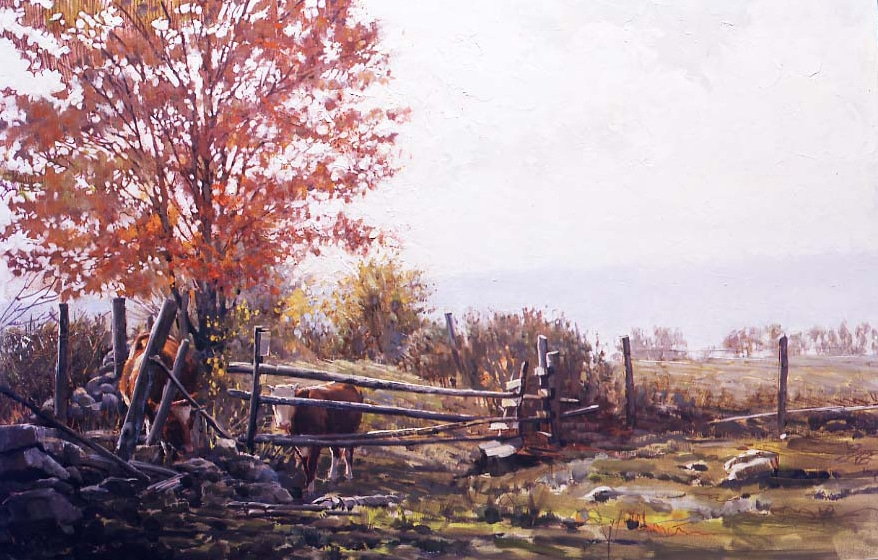 The Art of Painting - Clark Hulings' Autumn Meadow