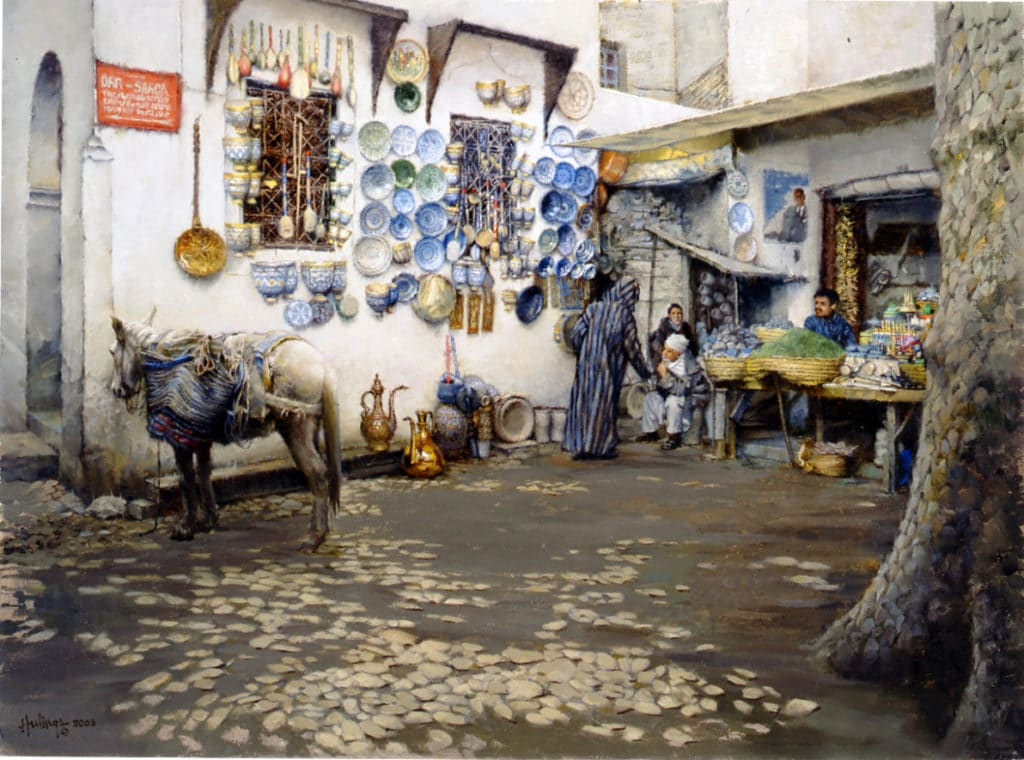 Marrakesh Souk painting by Clark Hulings