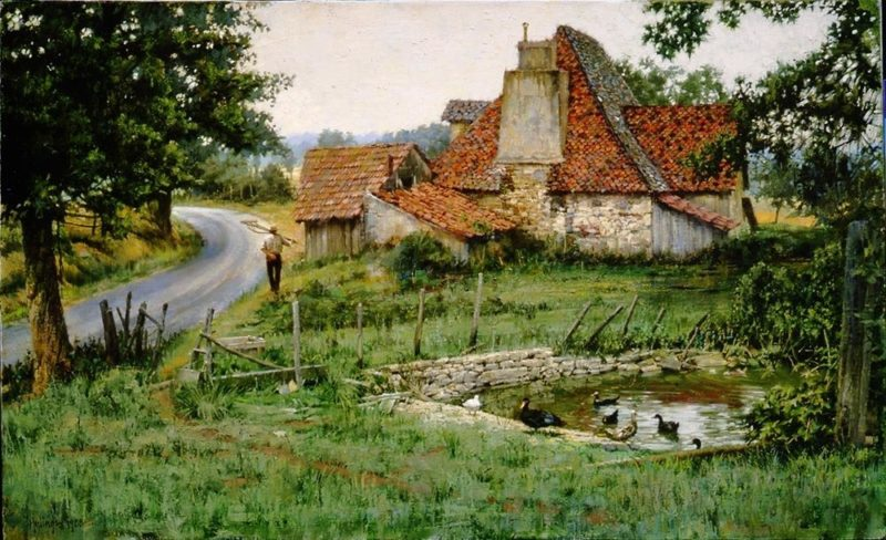 An Ancient French Farmhouse by Clark Hulings