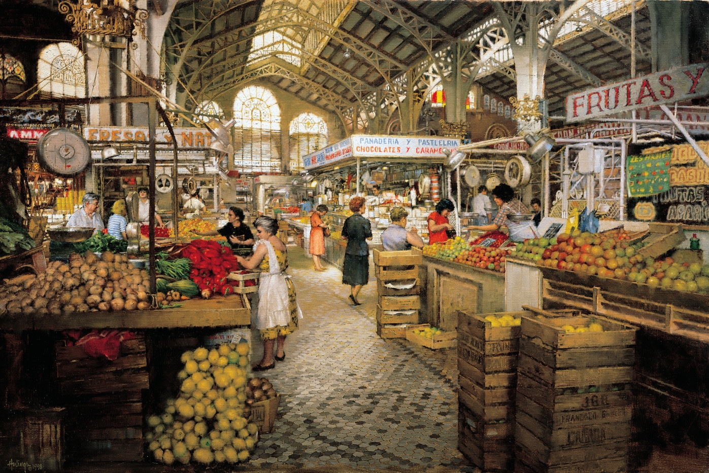 Interior Market, Valencia by Clark Hulings