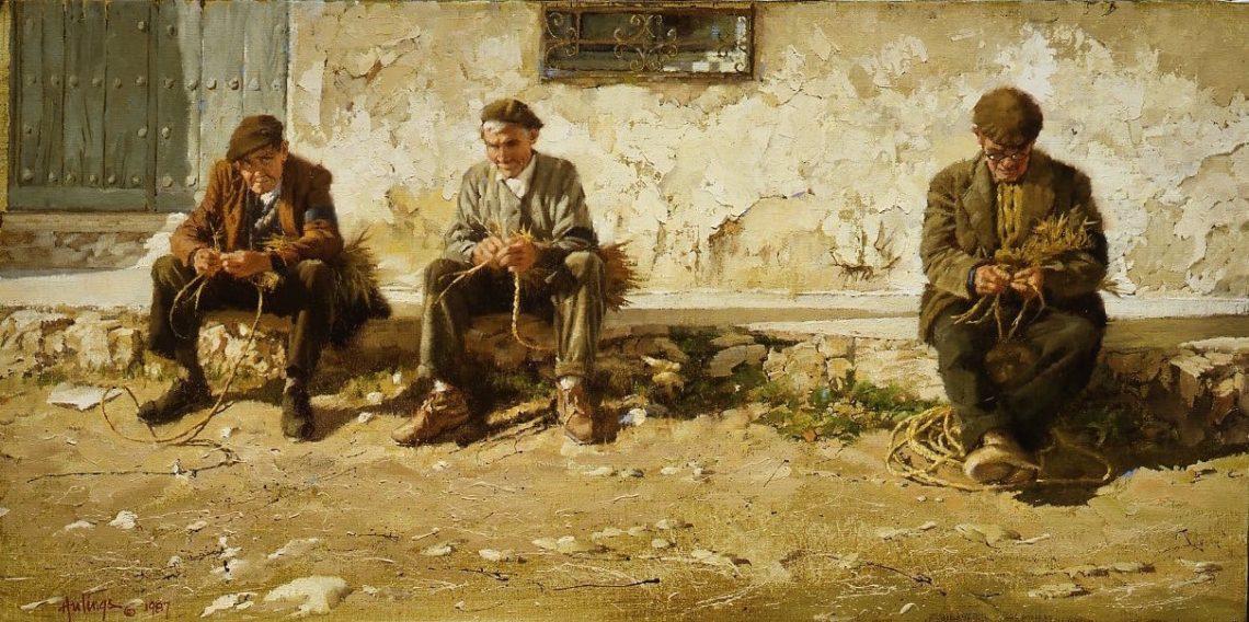 Rope Weavers of Belmonte, by Clark Hulings