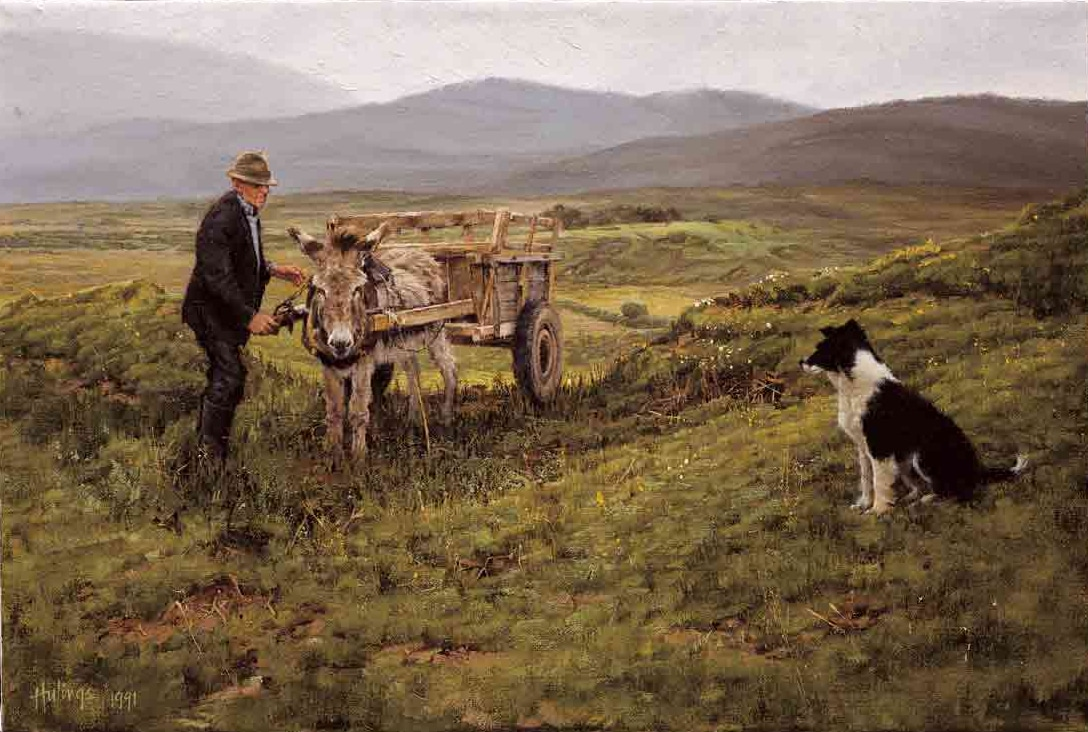 Irish Peat Man, by Clark Hulings