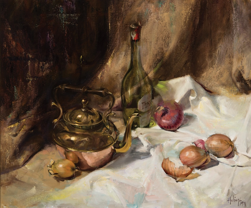 Still Life With Onions, by Clark Hulings