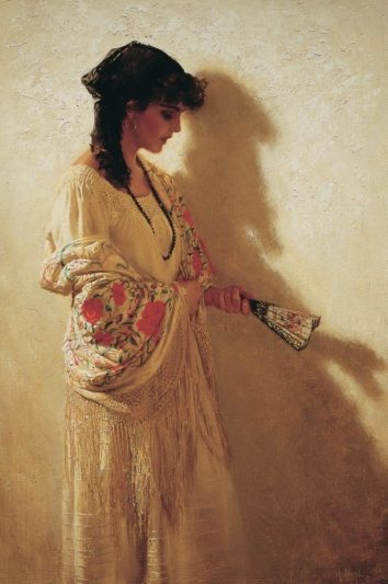 The Spanish Shawl, by Clark Hulings