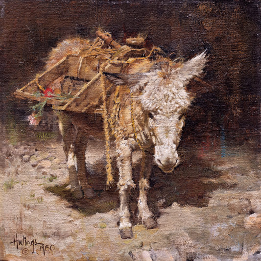 Flower Burro, by Clark Hulings