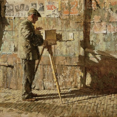Yugoslavian Street Photographer, by Clark Hulings