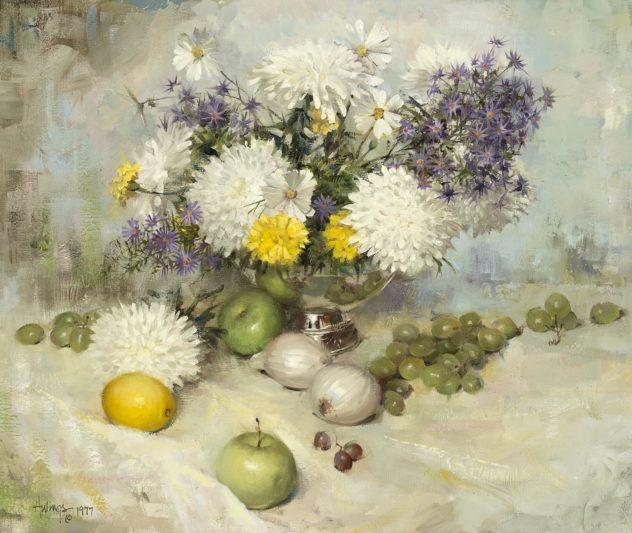 Chrysanthemums, by Clark Hulings