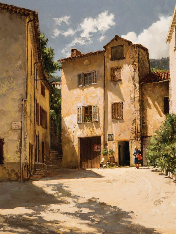 Seillans, France-Yellow Buildings, by Clark Hulings