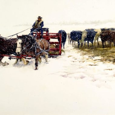 Montana Winter, by Clark Hulings