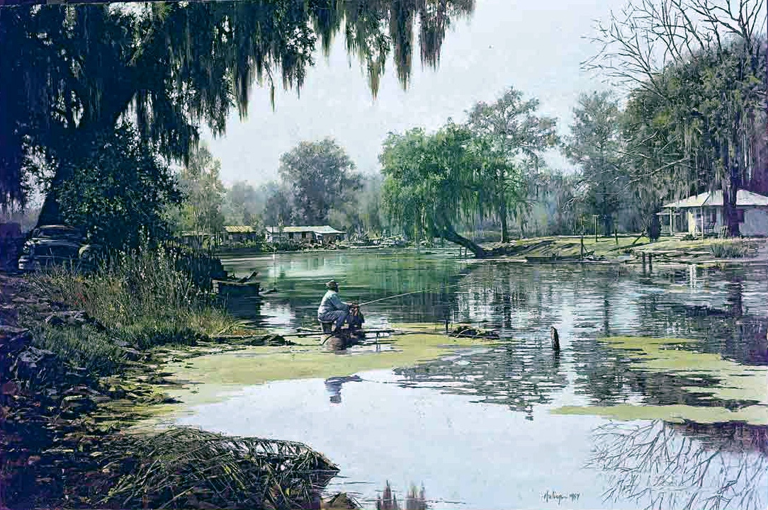 Louisiana Fisherwoman, by Clark Hulings