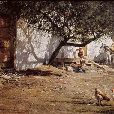 Girl Watering Her Burro, by Clark Hulings