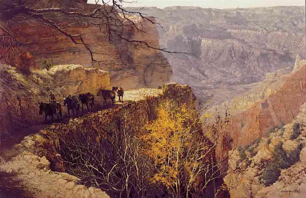 Kaibab Trail Fall 1, by Clark Hulings