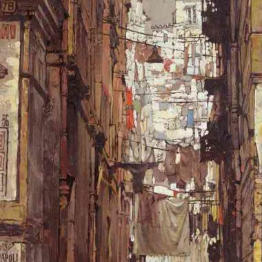 Street In Naples, by Clark Hulings