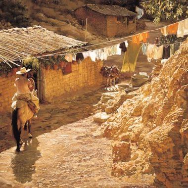 Taxco Horseman, by Clark Hulings