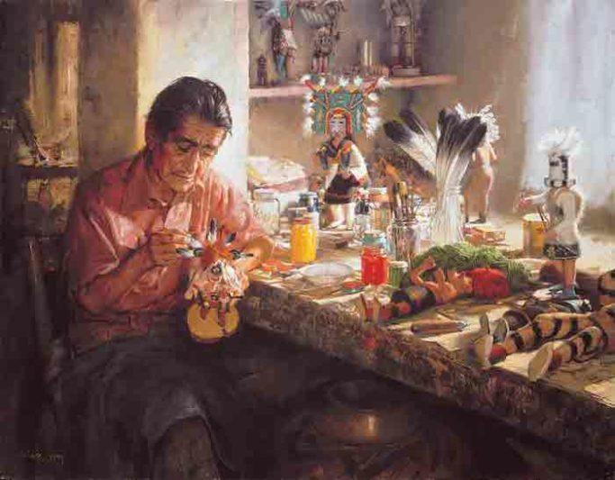 Kachina Doll Maker, by Clark Hulings