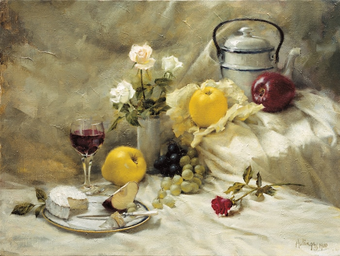 Still Life with Apples, by Clark Hulings