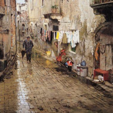 Rainy Sicilian Street, by Clark Hulings