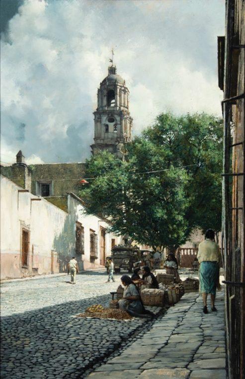 Market Day, St Miguel De Allende, by Clark Hulings