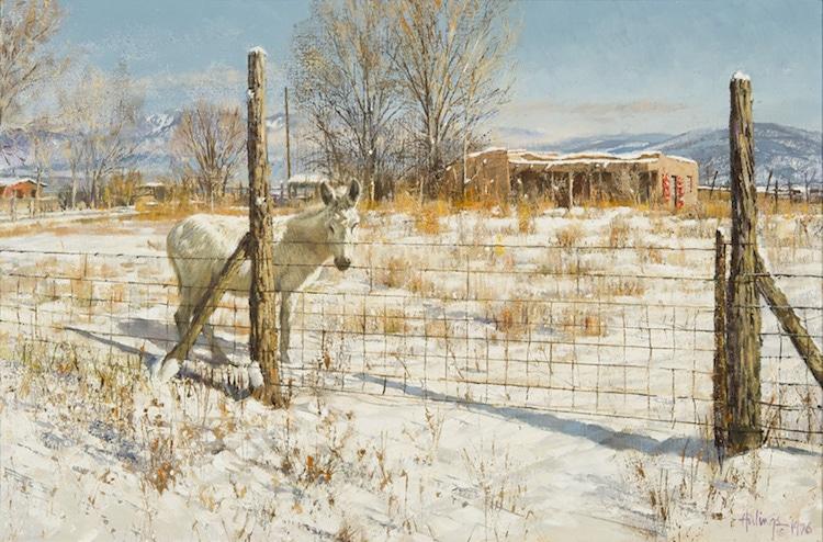 Burro Near Talpa NM, by Clark Hulings