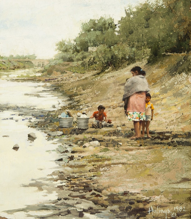 Washing Clothes In A Canal, by Clark Hulings