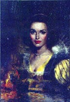 Walsingham Woman oil, by Clark Hulings