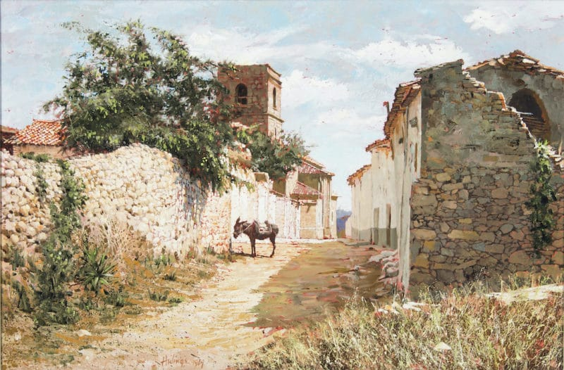 A Village in Central Spain, by Clark Hulings