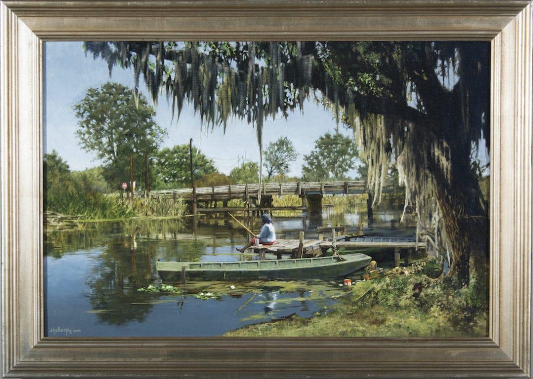 Bayou Fisherwoman, by Clark Hulings