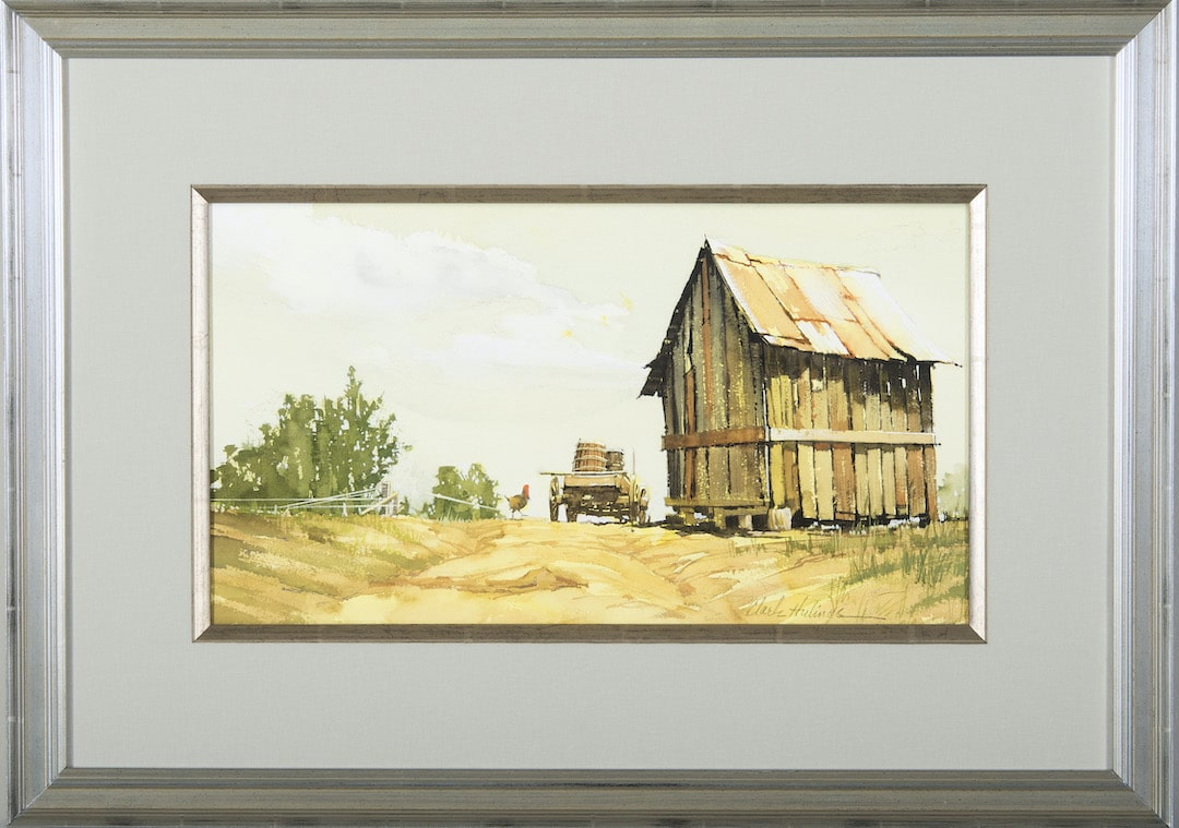 Cabin and Rooster, by Clark Hulings