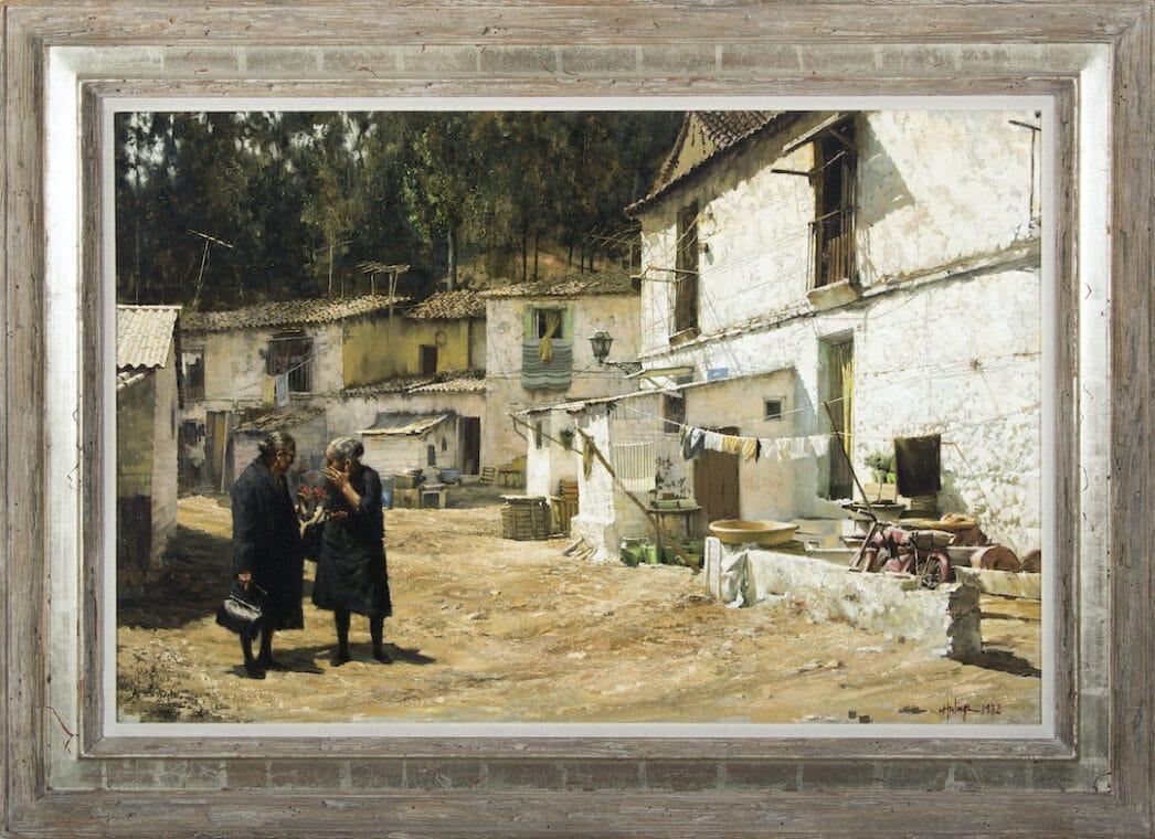 Málaga Gossip, by Clark Hulings