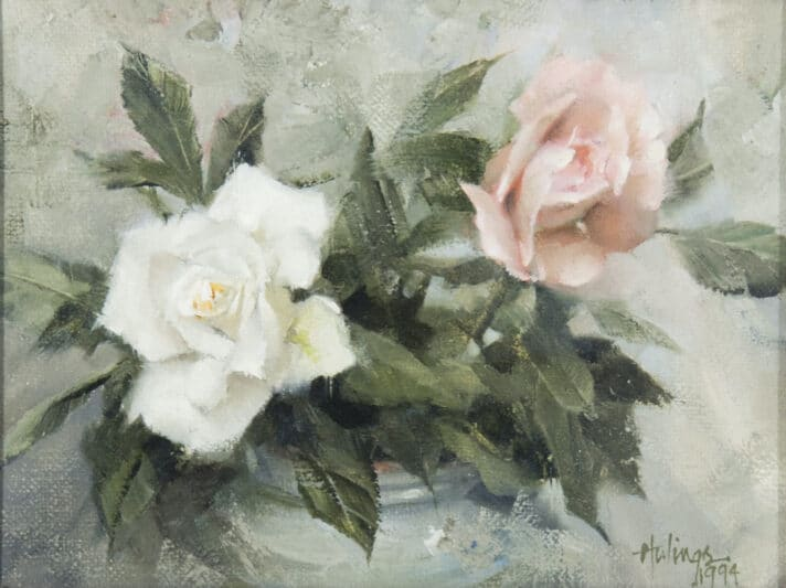 Two Roses, by Clark Hulings