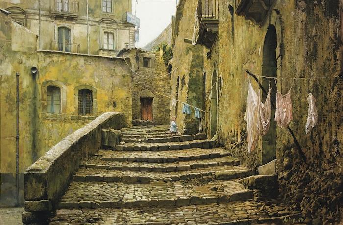 Blonde Girl in Sicily