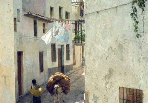 Altea #1 - Street Repairs, by Clark Hulings