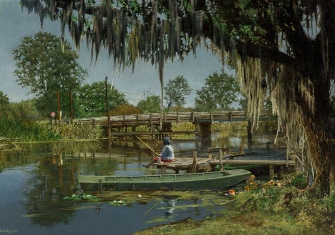 Bayou Fisherwoman, by Clark Hulings