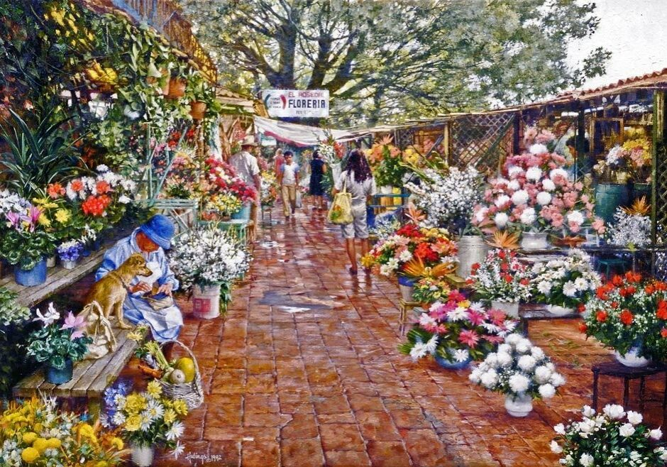 Cuervanaca Flower Market, by Clark Hulings