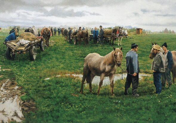 Horse Traders, by Clark Hulings