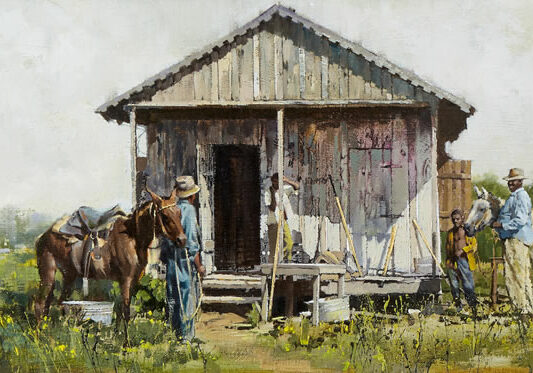 Mississippi Cabin, by Clark Hulings