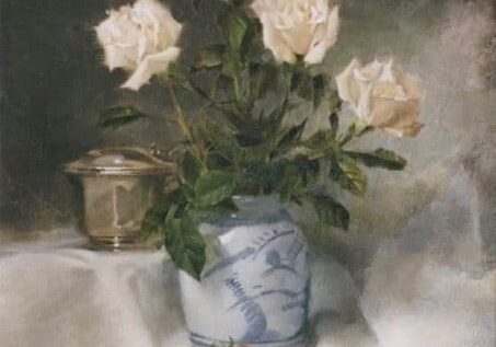 Still Life with Chinese Jar, by Clark Hulings