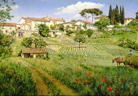 Tuscan Hill Village, by Clark Hulings